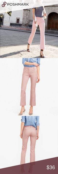 J. Crew Teddie Pant in Dusty Pink, sz 8 J. Crew Teddie Pant in Dusty Pink, size 8.  EXCELLENT condition, worn twice then dry cleaned (still look perfect as far as I can tell).    PRODUCT DETAILS Meet Teddie: Our new favorite pant is slightly cropped with a cool kicky leg and polished front pockets that are finished with hidden zippers (a little detail we really love). We made it in a sleek stretch cotton blend that won't bag out, so there's that too.  -Cotton/viscose/elastane. -Slant pockets…