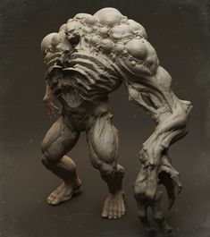 BFZ - BIG FERAL ZOMBIE Inspired by DOOM, it's an homage to the amazing DOOM 2016 game. Added a progress GIF showing the sculpting stages. Created as a portfolio piece for our studio Little Red Zombies. I was responsible for the highpoly sculpt. Character Words, Character Concept, Character Design, 3d Character, Zombies, Light Vs Dark, Sculptures, Lion Sculpture, Monster Concept Art
