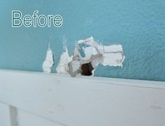 How to patch holes in dry wall, yup we have holes that need a fixin'. Super easy and great instructions!