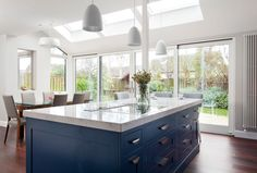 Daylight now floods into this stunning kitchen extension thanks to VELUX roof windows. Image provided by Emmet Duggan Architects Ltd, Wicklow