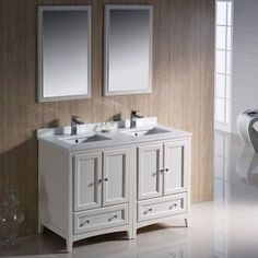 Found it at Wayfair - Oxford Traditional Double Sink Bathroom Vanity Set Good Small Double Sink Vanity for master bath Small Bathroom Vanities, White Vanity Bathroom, Single Sink Bathroom Vanity, Vanity Sink, Bath Vanities, Vanity Cabinet, Single Vanities, Bathroom Cabinets, Vanity Units