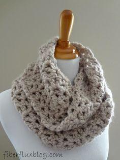 Fiber Flux: Free Crochet Pattern...Pavement Infinity Scarf!