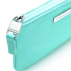 Flat pouch in Tiffany Blue® leather, small. More colors available. | Tiffany & Co.