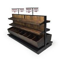 bakery display shelves