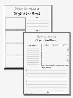 Education to the Core: FREEBIE! Gingerbread Functional Text Writing Activity!