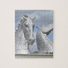 Shop the Kelpies , Helix Park , Falkirk , Scotland Jigsaw Puzzle created by photogold. Personalize it with photos & text or purchase as is! Clydesdale Horses, Office Art, Office Ideas, Scottish Gifts, Scotland Castles, Make Your Own Puzzle, Custom Gift Boxes, Holiday Photos, Art For Kids