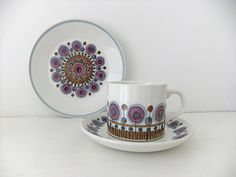 Retro Meakin Cup, Saucer And Plate