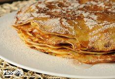 Almás palacsinta   Nosalty Lasagna, Pancakes, Breakfast, Ethnic Recipes, Food, Morning Coffee, Essen, Pancake, Meals