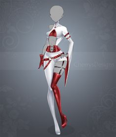 (closed) Auction Adopt - Outfit 458 by CherrysDesigns on DeviantArt Cosplay Outfits, Anime Outfits, Cool Outfits, Clothing Sketches, Dress Sketches, Hero Costumes, Anime Costumes, Dress Drawing, Drawing Clothes