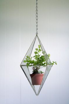 Terrarium Stained Glass Hanging Terrarium By Crystallographie, $45.00