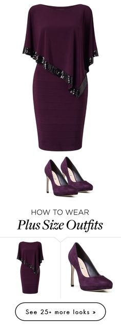 """""""Untitled #1979"""" by yellowandpinkbunny on Polyvore featuring Adrianna Papell, Via Spiga and plus size dresses"""