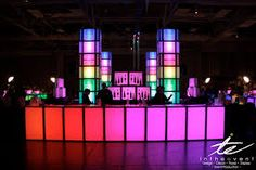 Our modular furniture is dynamic. For this event, we designed an innovative bar for. Led Furniture, Modular Furniture, Bar Set Up, Neon Lighting, Plexus Products, Event Design, Image Search, Cocktails, Lights