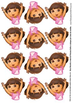 Dora Cake, Silhouette Cake, Creative Party Ideas, Beauty And The Beast Party, Frozen Theme Party, Ballerina Birthday, Hello Kitty Birthday, Dora The Explorer, Disney Junior