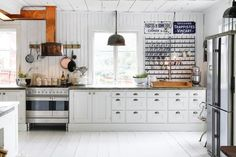 Farmhouse kitchen: A Traditional Red and White Farmhouse in Sweden