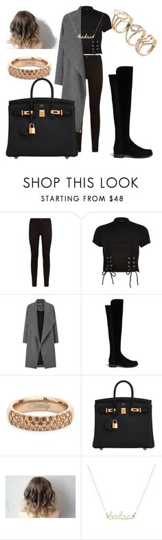 """Chic, dark and simple"" by charlene57 ❤ liked on Polyvore featuring Maje, River Island, Miss Selfridge, Stuart Weitzman, Vitaly and Hermès"