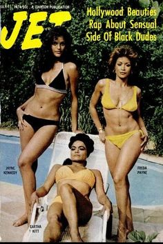 Eartha Kitt, Jayne Kennedy & Freda Payne on the cover of JET, July 11, 1974