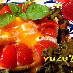 ずーっと作りたかったの♪( ´▽`)  シンプルだからこそ、たまらない美味しさ‼  卵のトロリンと加熱して甘くなったトマトとの絶妙なコラボよ! ( ^ω^ )  みちゃこちゃん、ありがとうネ❤✨ - 246件のもぐもぐ - みちゃこちゃんの❤たまご入りトマト・トースト❤✨ by yuzu75