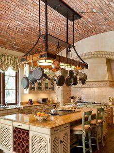 Customize Kitchen Pot Racks Over the Island Looking for the Greatest Kitchen Pot Racks Design