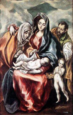 El Greco : i suoi dipinti che racconta la Bibbia - ArtBible.org- The Holy Family (1594-1604) El Greco [Museo del Prado, Madrid