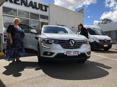 Rosemary Jansen picking up her new Renault Koleos life, from Armstrong Renault. #CDRenault #AAG #ArmstrongRenault