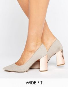 New Look Wide Fit Pointed Court Heel