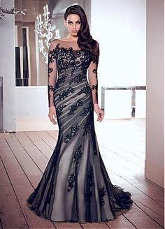 [141.34] Chic Tulle Bateau Neckline Floor-length Sheath Prom Dress - dressilyme.com