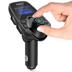 FM Transmitter, Nulaxy Wireless Bluetooth FM Transmitter Car Kit Radio Receiver W 1.44 Inch Display 2.1A USB Car Charger MP3 Player Read Micro SD Card and USB Flash Drive
