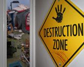 CONSTRUCTION ZONE Wall Sign.
