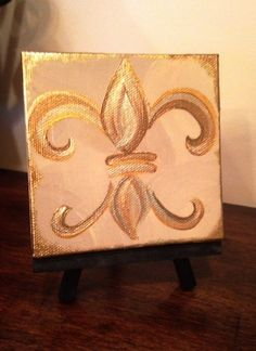 "4"" X 4"" Mini Canvas (small Wooden Easel Included)"