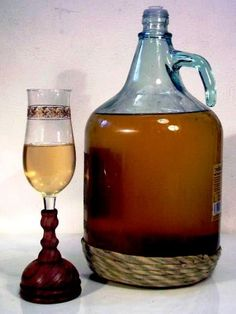 Honey wine (mead) was given to newly married couples who would then drink it every night out of a special goblet to promote virility and also to protect them from the faeries who would love to spirit the bride away. The honeymoon was born out of this idea.