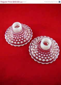 Christmas Sale 30 off Hobnail Glass Moonstone by JulianosCorner, $28.00