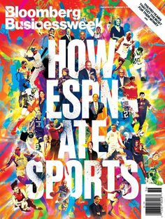 Bloomberg Businessweek Cover - 'How ESPN Ate Sports' by Chuck Anderson, via Behance