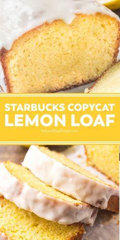 Lemon Dessert Recipes, Pound Cake Recipes, Great Desserts, Lemon Recipes, Baking Recipes, Delicious Desserts, Cat Recipes, Bread Recipes, Lemon Pond Cake