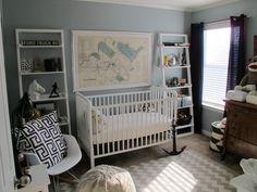 Gorgeous vintage nursery with nautical touches #baby