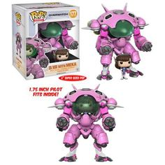 Release Date: May 2017 Your favorite characters from Blizzard Entertainment's Overwatch get the Pop! Vinyl treatment! This D.VA Pop! Vinyl Figure measures approximately 1 3/4-inches tall and comes wit