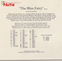Solo Patrones Punto Cruz The Bliss Fairy