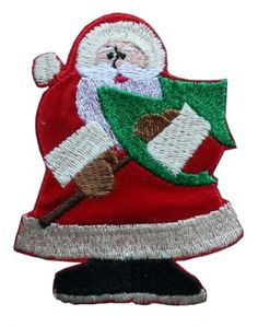 ID #8039 Santa Claus Christmas Xmas Holiday Embroidered « Clothing Impulse