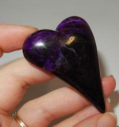 Sugilite freeform heart by earthlightgems on Etsy