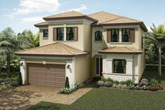 Somerset Grande Plan   Florida Real Estate - GL Homes Concrete Roof Tiles, Undermount Stainless Steel Sink, Modern House Floor Plans, Boca Raton Florida, Iron Balusters, Glass Shower Enclosures, Wood Stairs, House Elevation, Exterior Doors