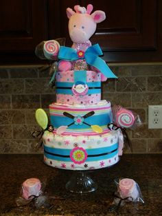 first diaper cake i have ever made. labor of love