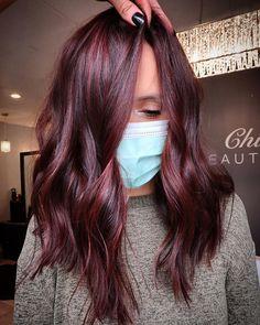 Dark Fall Hair, Red Hair For Fall, Autum Hair, Fall Hair Cuts, Fall Hair Color For Brunettes, Fall Hair Colors, Fall Winter Hair Color, Maroon Hair Colors, Hair Color Balayage