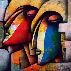 Jagannath Paul, 1976 | Abstract Figurative painter | Tutt'Art@ | Pittura * Scultura * Poesia * Musica |
