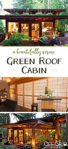 Cabins And Cottages: A beautiful little cabin with lots of windows and . Tiny House Cabin, Tiny House Living, Cabin Homes, Off Grid Tiny House, Lots Of Windows, Modern Windows, Little Cabin, Little Houses, Style At Home
