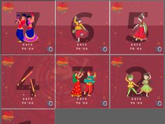 Red Raas Event Countdown Feed Design by Tirth Desai
