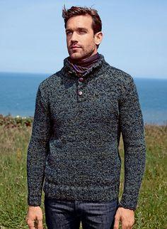 Ravelry: #09 Button Neck Sweater - Pull Col Boutonné pattern by Bergère de France