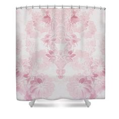 Pink Shabby Chic Shower CurtainOff White Floral Bath CurtainShower AccessoriesHome Interior