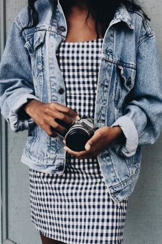 Gingham + denim.
