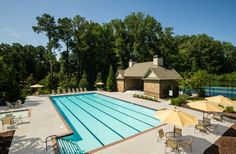 Beautiful Amenity Center featuring a Clubhouse, Swimming Pool and Five Hard Tennis Courts – Manor North – via Edward Andrews Homes