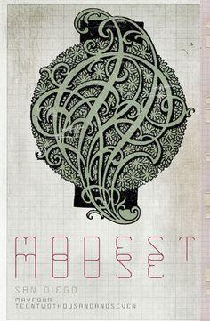 Modest Mouse gig poster by Ryan Seaman Rock Posters, Band Posters, Music Posters, Concert Posters, Music Maniac, Modest Mouse, Poster Prints, Gig Poster, Music Artwork
