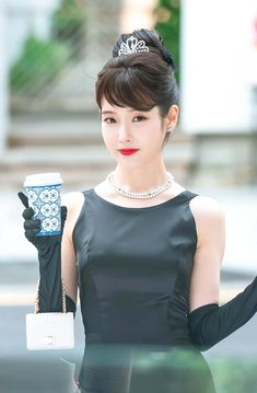 My favorite style icon portrayed by my favorite Korean Actress IU, is a gorgeous sight to see. Satisfy your curiosity and watch Audrey Hepburn come to life in Hotel del Luna. } } More inspo on link Korean Beauty, Asian Beauty, Luna Fashion, Audrey Hepburn Style, K Idol, Korean Actresses, Korean Actors, Suzy, Beautiful Asian Girls